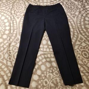 Lafayette 148 Stanton Pants Size 4 Navy Blue